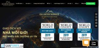 Đánh giá sàn Fullerton Markets mới nhất 2021